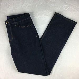 NYDJ Straight Cut Jeans Dark Wash Size 14 EUC